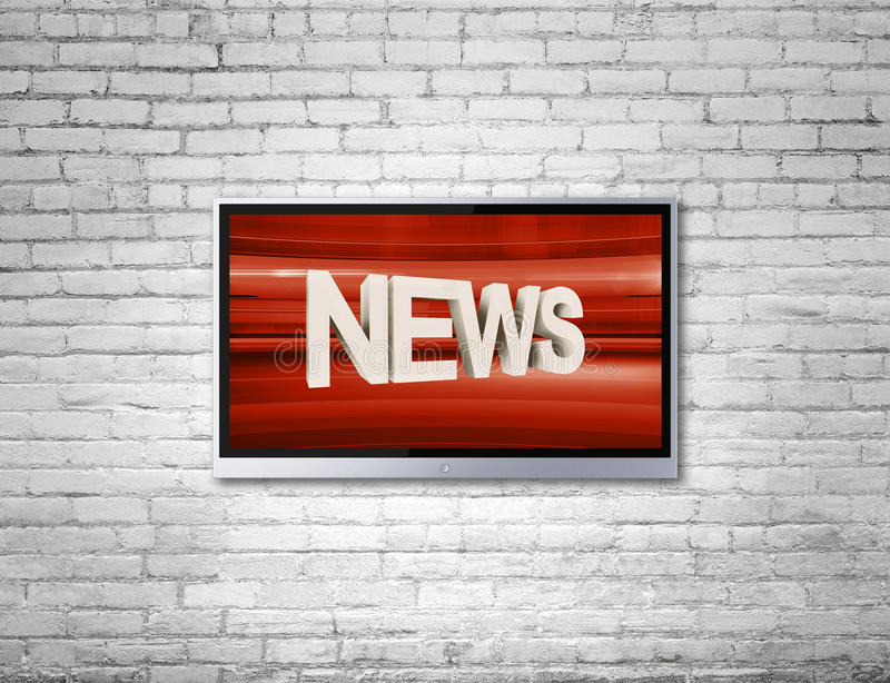 TV with news royalty free stock image
