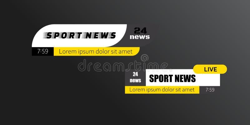 TV-nieuwsbars vector illustratie
