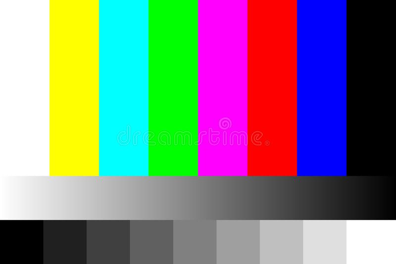Tv no signal. static screen. 4k, full hd resolutions. vector royalty free illustration