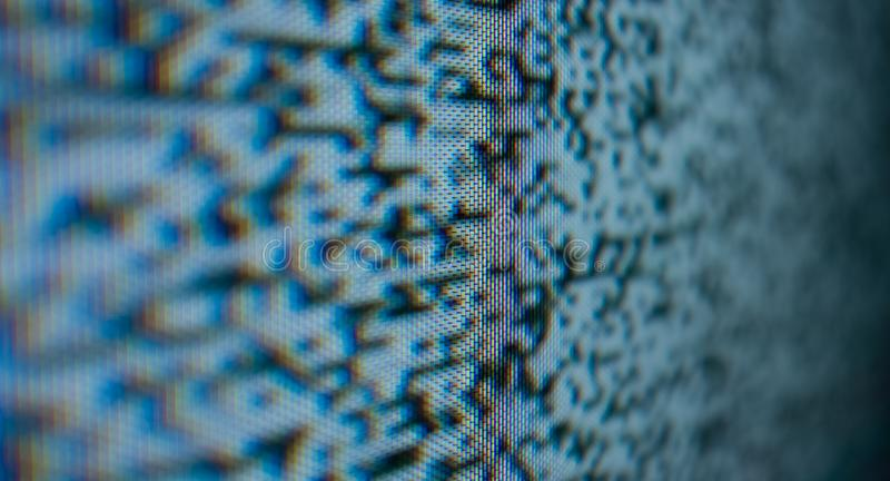 Noise grain dots bad tv. Tv noise, real analog old television set screen stock photos