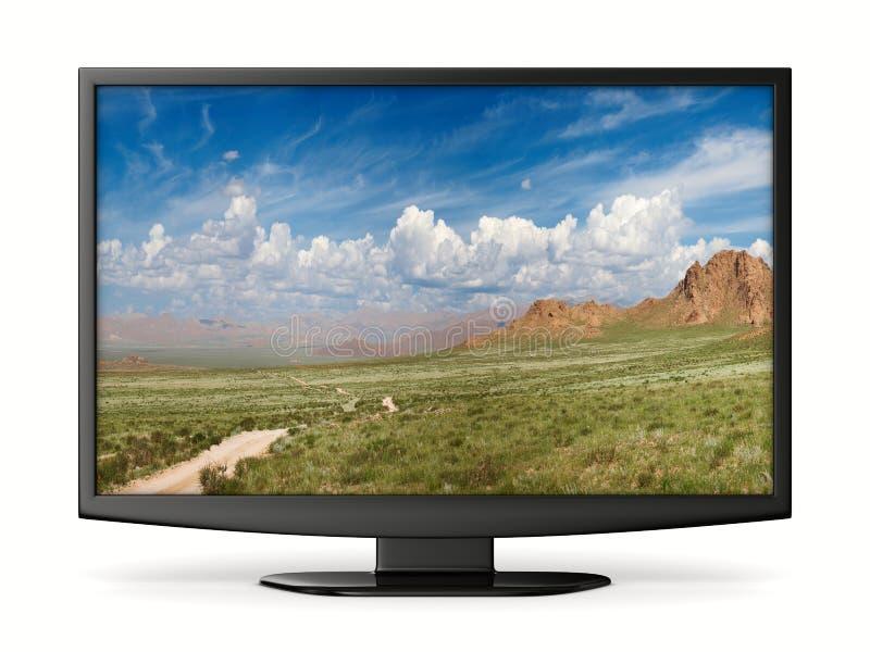 TV op witte achtergrond stock illustratie