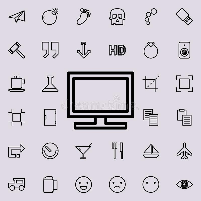 TV outline icon. Detailed set of minimalistic line icons. Premium graphic design. One of the collection icons for websites, web de. Sign, mobile app on colored stock illustration
