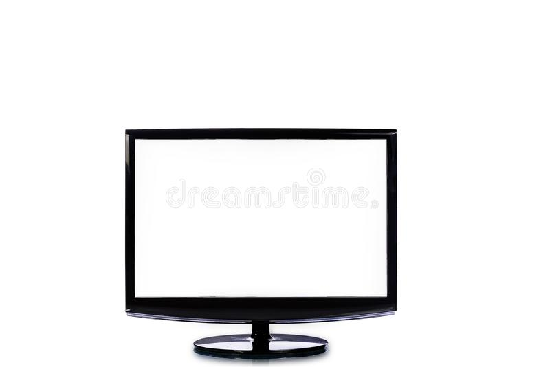 TV płaski ekran lcd, HD monitoru Nowożytny wideo panel z białym scr fotografia royalty free