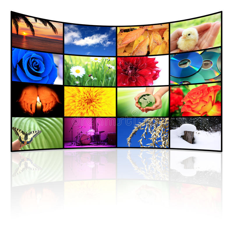 Tv-Panel. Big panel of TV, HD, movie, screen royalty free stock photo
