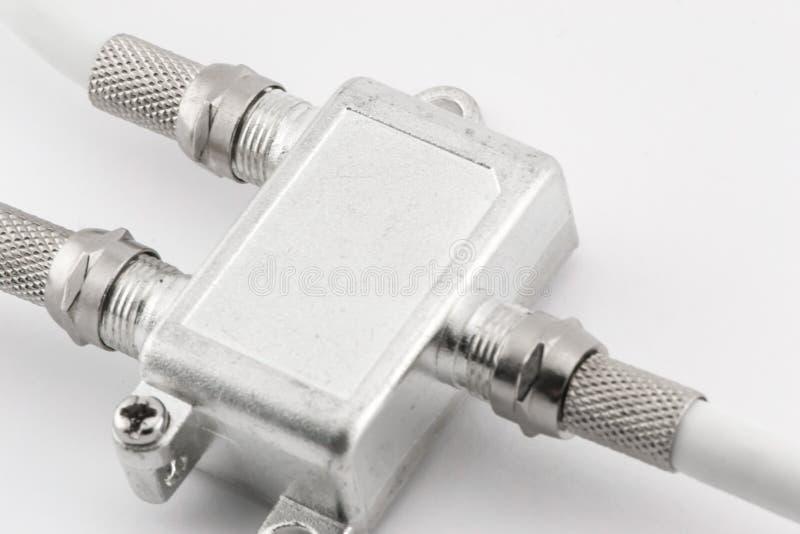 TV par câble diviseur images stock