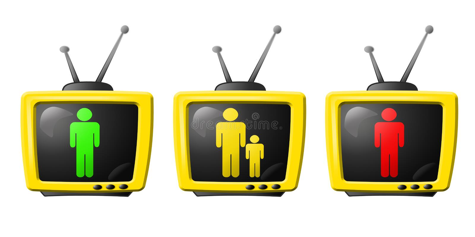 Tv Parental Control Royalty Free Stock Photo