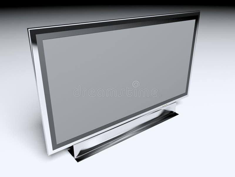 Download TV Piana - Affissione A Cristalli Liquidi Illustrazione di Stock - Illustrazione di film, brown: 3876122
