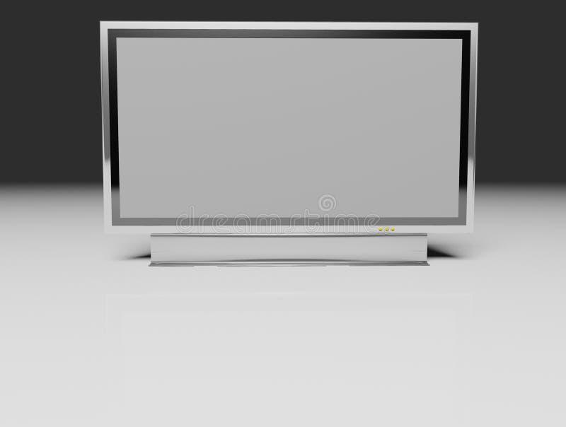 Download TV Piana - Affissione A Cristalli Liquidi Illustrazione di Stock - Illustrazione di brown, isolato: 3876126