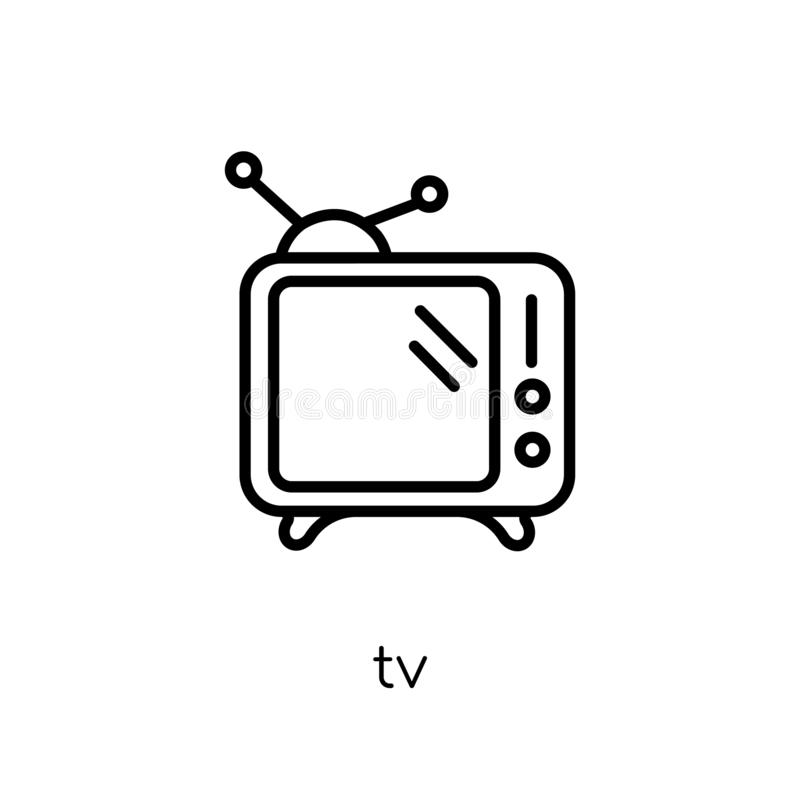 TV-pictogram  royalty-vrije illustratie