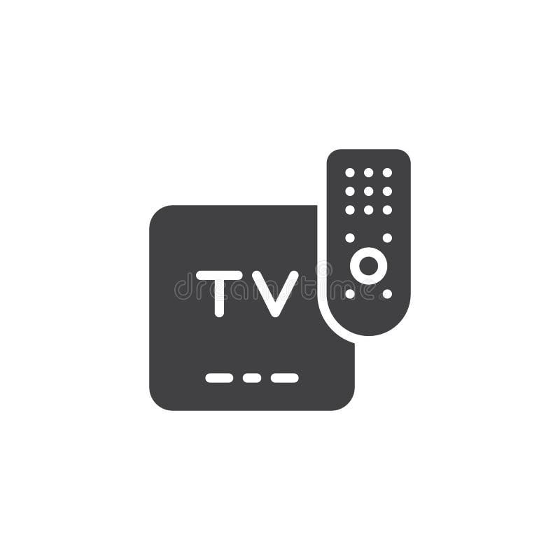 TV pilot do tv wektoru ikona ilustracja wektor