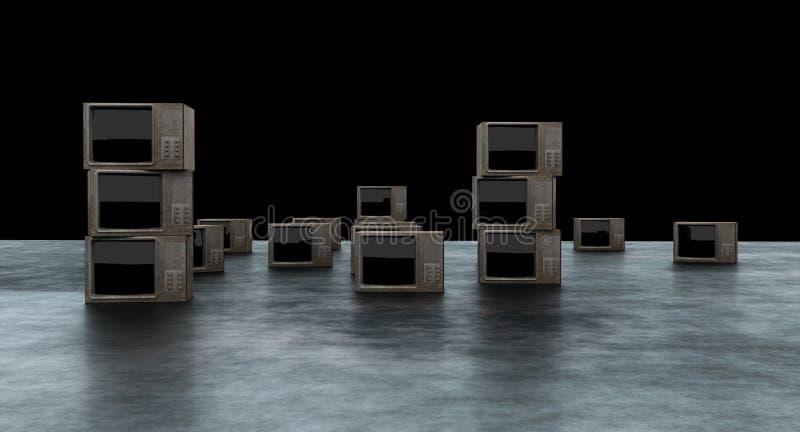 TV pokazu 3D rendering ilustracji