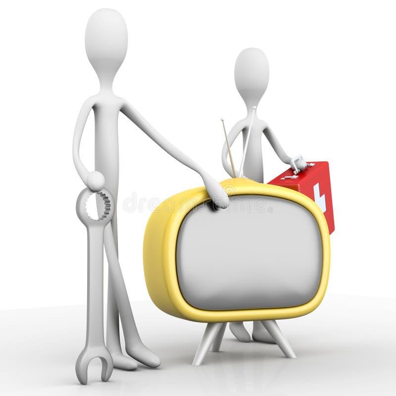 Download TV poparcia drużyna ilustracji. Ilustracja złożonej z ratownik - 28963339