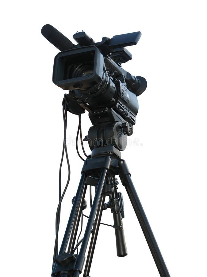 TV Professional studio digital video camera royalty free stock images