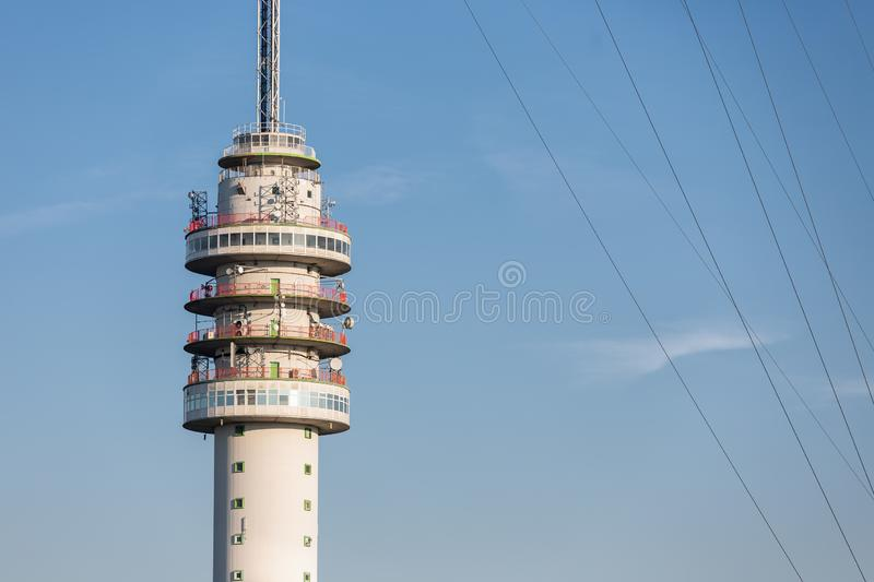 Dutch TV and radio tower in Smilde. TV and radio tower in Smilde, The Netherlands royalty free stock photos