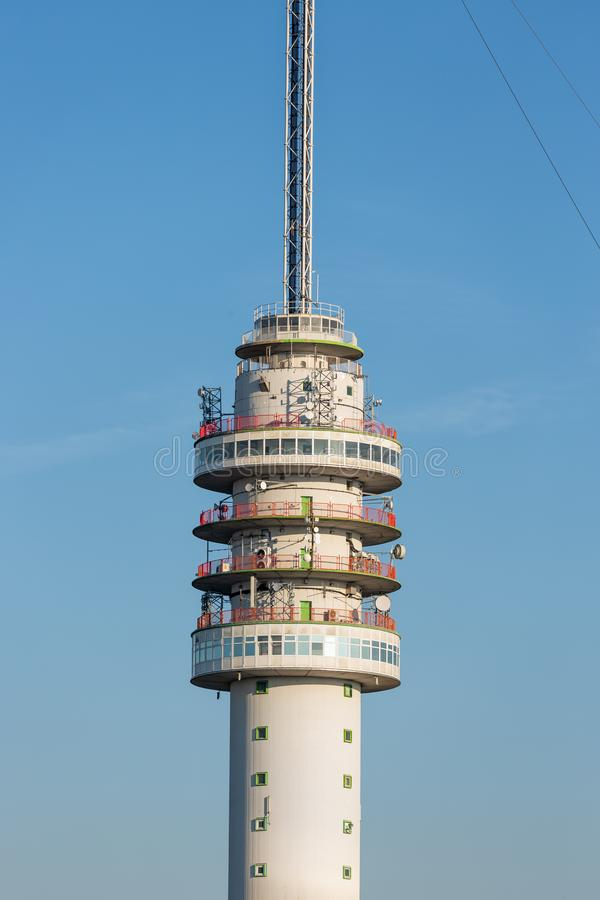 Dutch TV and radio tower in Smilde. TV and radio tower in Smilde, The Netherlands stock photos