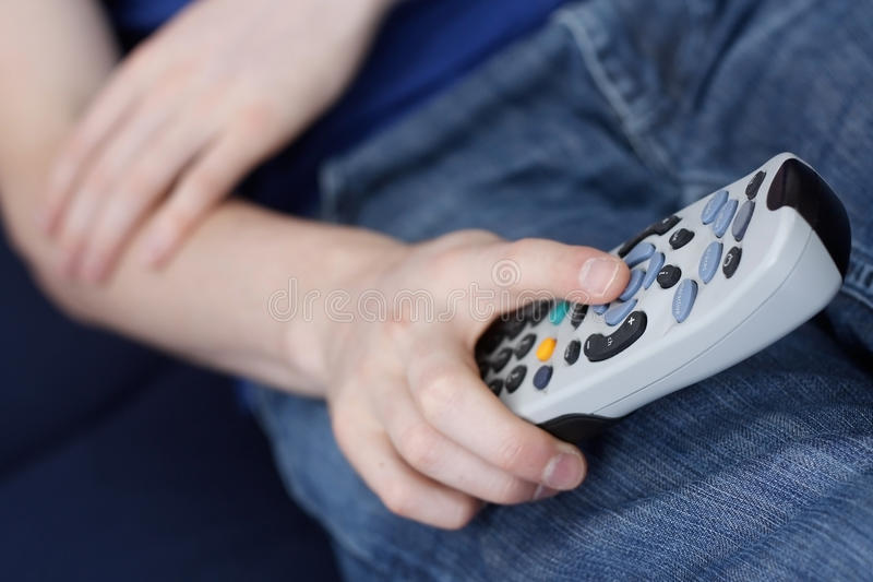 Tv Remote Stock Photo