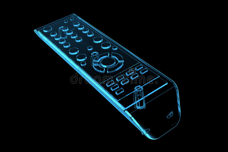 Download TV remote (3D xray blue) stock illustration. Illustration of frame - 19467482