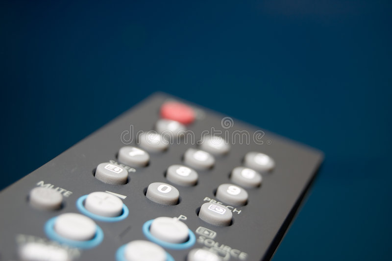 TV Remote. Shallow depth of field Focus on 0 button royalty free stock photos
