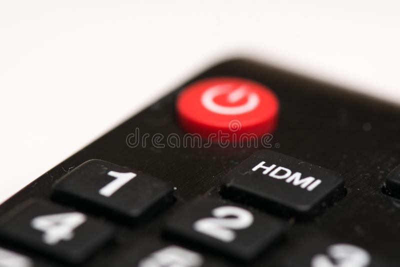 TV remote control closeup  isolated royalty free stock image