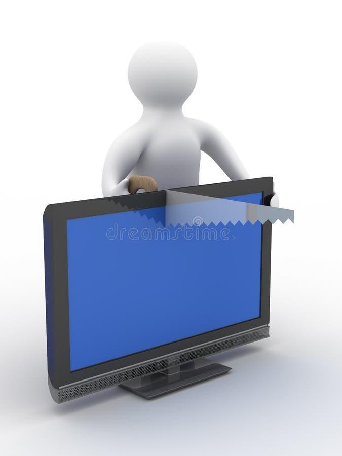 Download TV Repair. Technical Service Stock Illustration - Image: 10891106