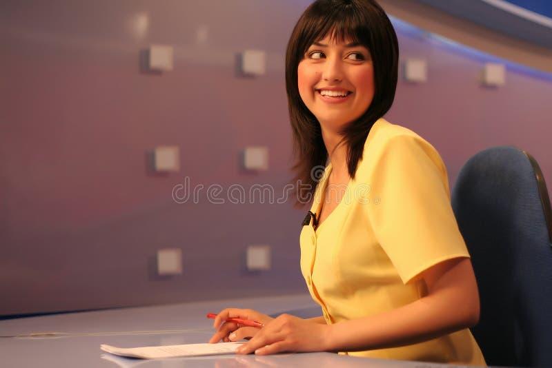 Download TV reporter in studio stock photo. Image of breaking, journalist - 2314858