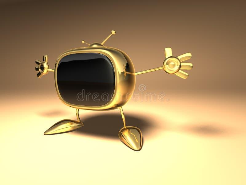 Download TV retra stock de ilustración. Ilustración de cielo, retro - 1288182