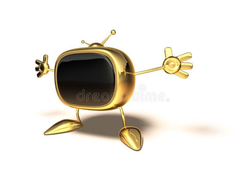 Download TV retra stock de ilustración. Ilustración de sitio, casero - 1288184