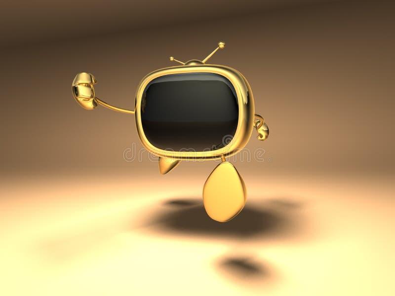 Download TV retra stock de ilustración. Ilustración de conjunto - 1288191