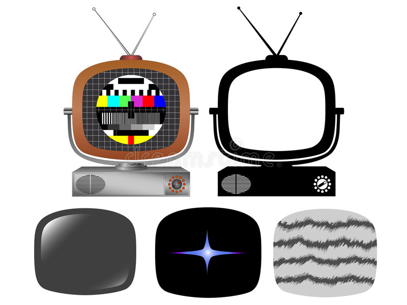 TV retra stock de ilustración