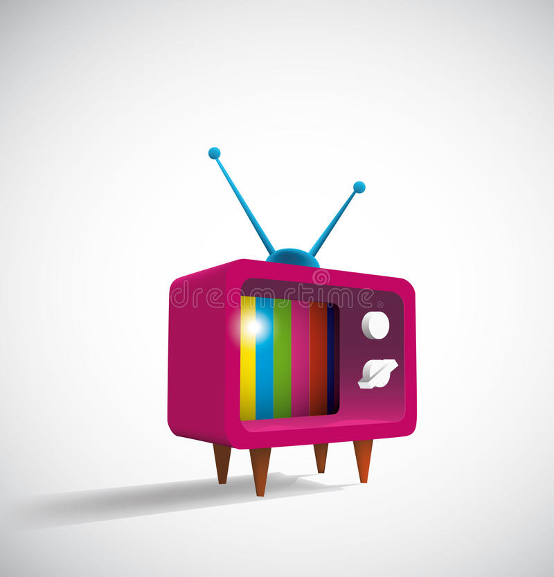 TV retra stock de ilustración