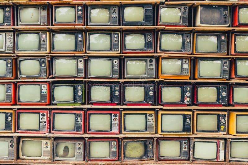 TV retra foto de archivo