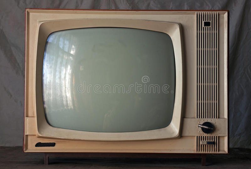TV retra soviética vieja fotografía de archivo libre de regalías