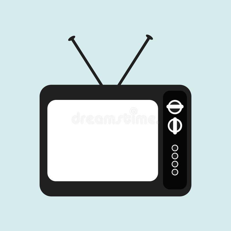 Tv retro projekt royalty ilustracja