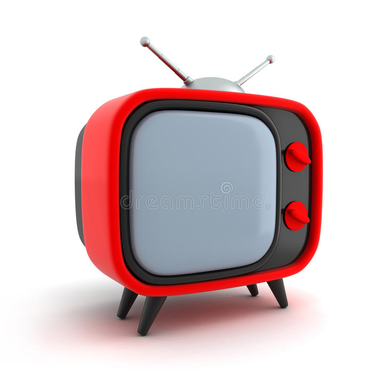 TV retro red stock illustration