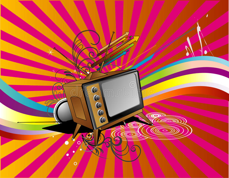 Download Tv retro vector stock vector. Image of vector, object - 10894302