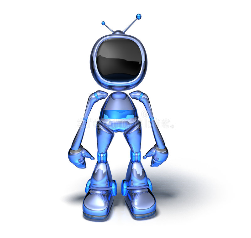 Tv robot. 3d generated picture with lightwave royalty free illustration