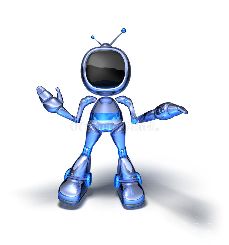 Download Tv robot stock illustration. Illustration of chrome, system - 2110192