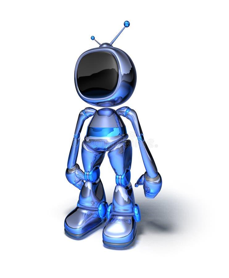 Tv robot vector illustration