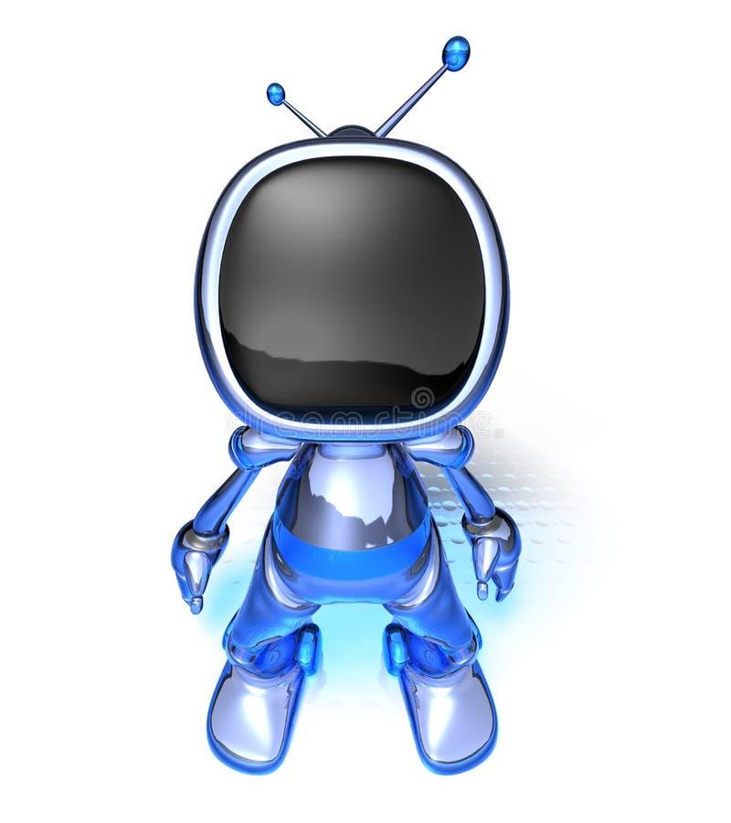 TV Robot royalty free illustration