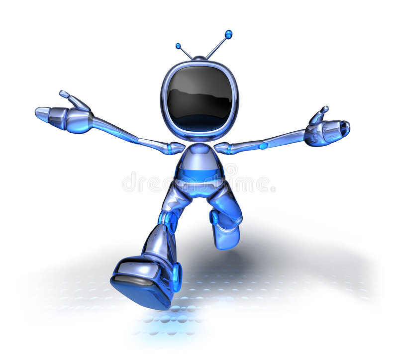 TV Robot. 3d generated picture stock illustration