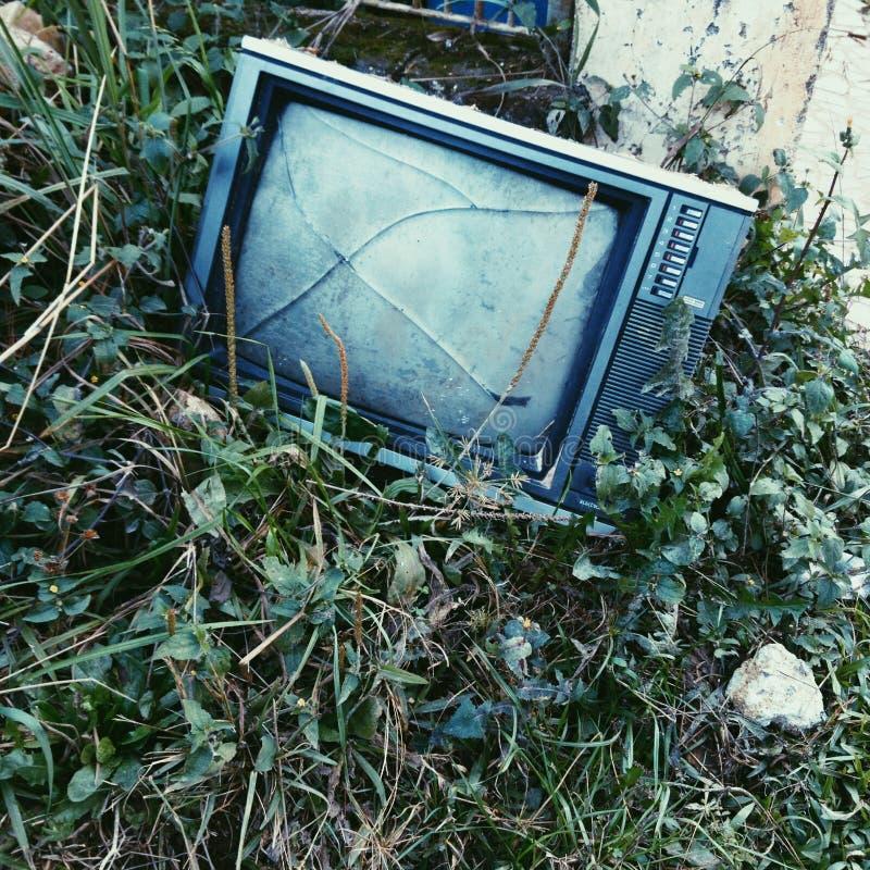 TV rotta immagini stock