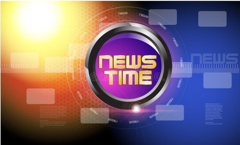 TV-sändningnyheternamall royaltyfria bilder