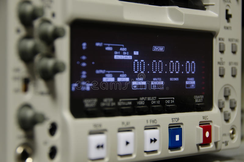 TV-sändningregistreringsapparat arkivbilder