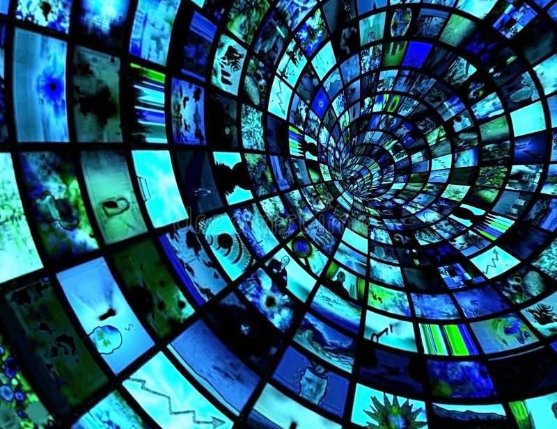 TV-sändningtunnel arkivbilder