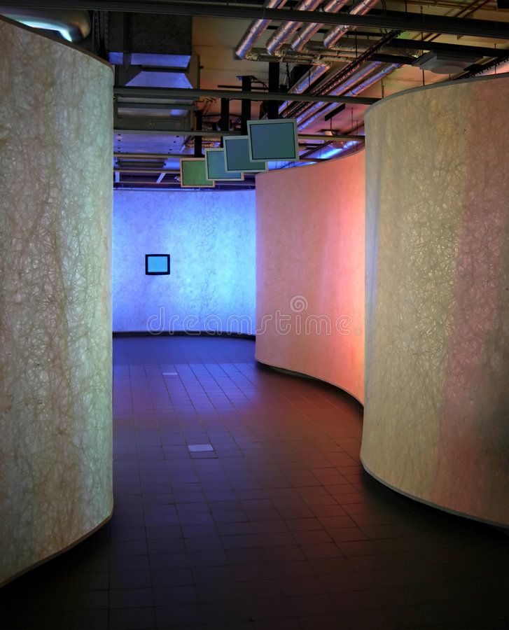 Tv's corridor royalty free stock photos