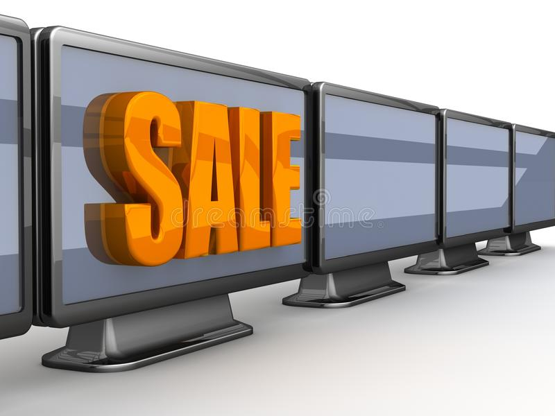 TV For Sale Royalty Free Stock Images