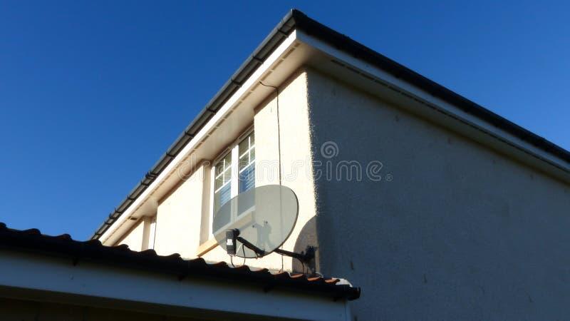 TV satellite dish royalty free stock photo