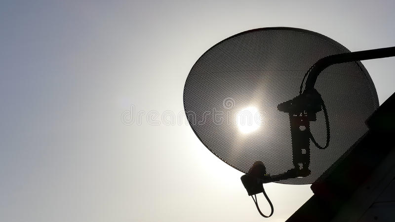 TV satellite dish royalty free stock photography