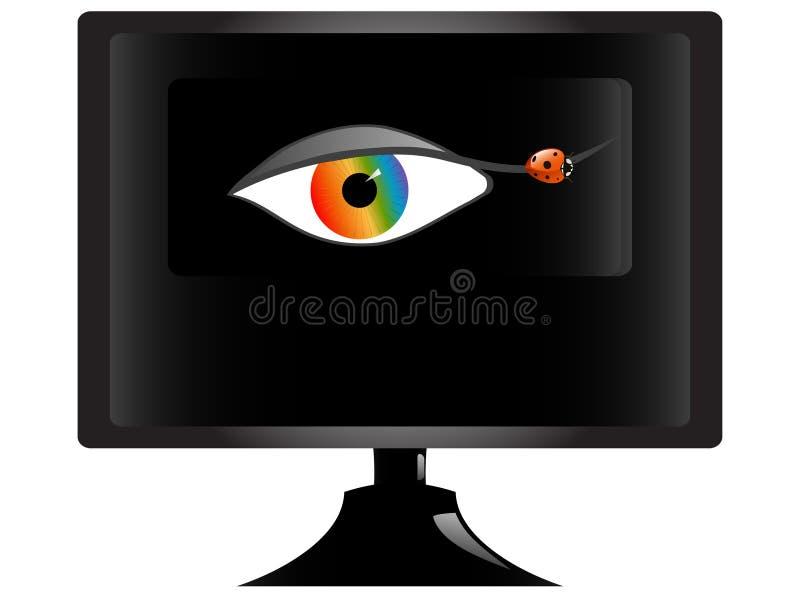Download TV Screen stock vector. Image of human, logo, tech, flat - 5693853