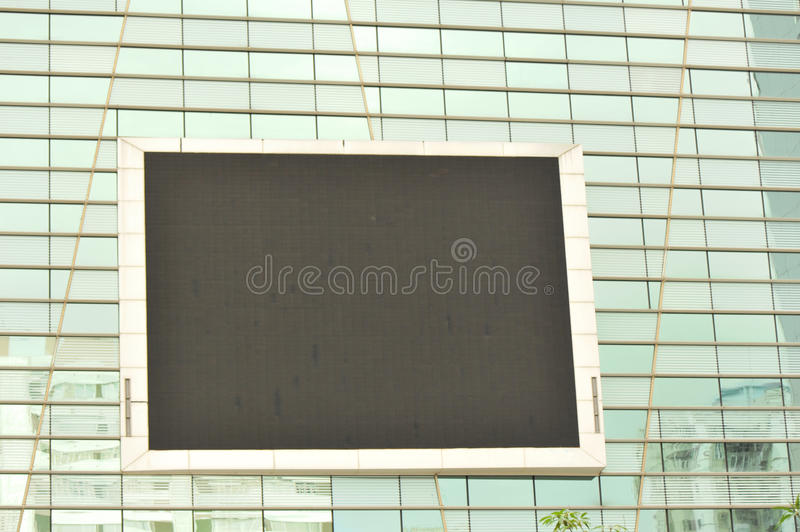 Tv Screen On Bulding Wall Royalty Free Stock Image